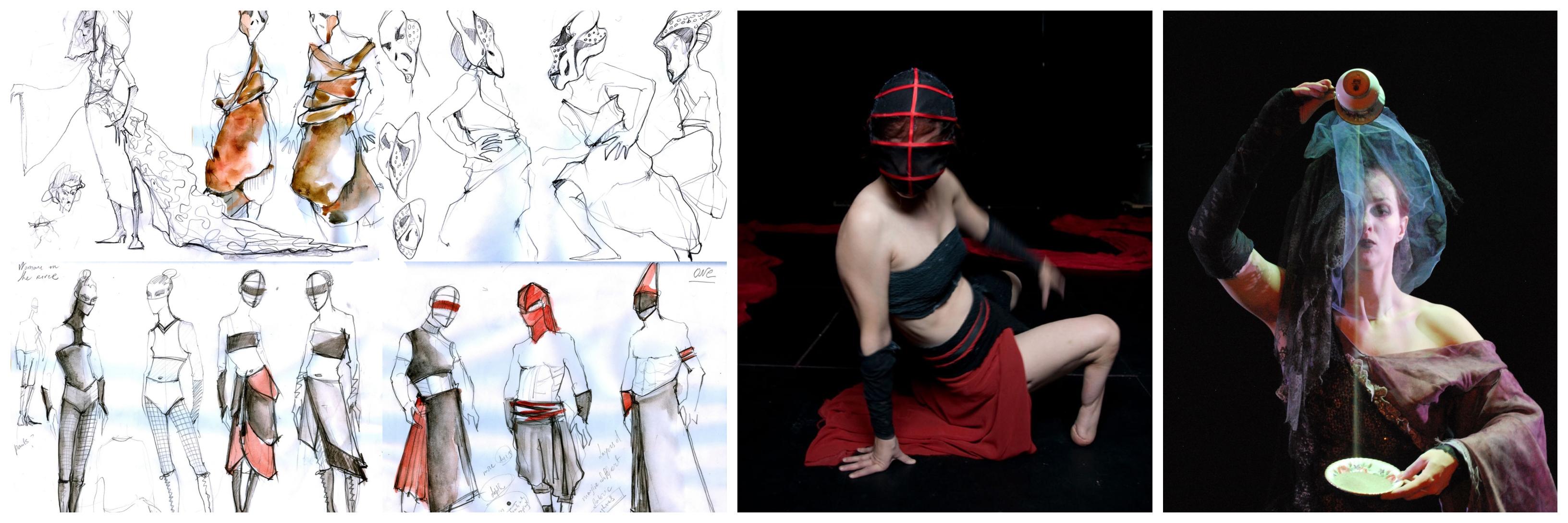 Collage of Snezana Pesic's costume designs