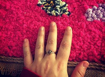 hand wearing ring on middle finger