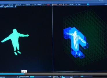Screen capture of body tracking