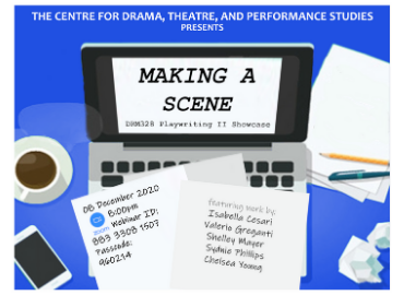 Poster for DRM328 Playwriting Showcase