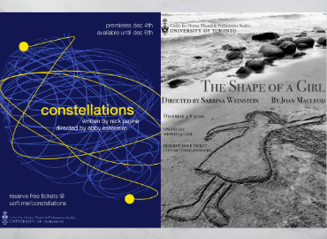 Posters of Constellations and The Shape of A Girl