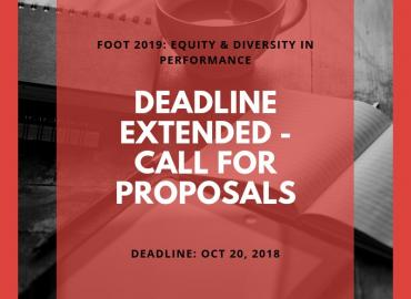 FOOT 2019 Call for Proposals new date