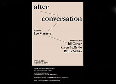 Poster for After Conversation event